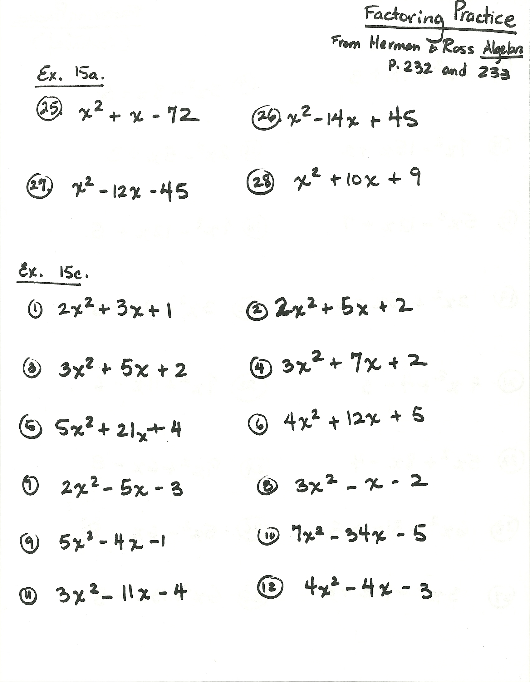 Worksheet 8th Grade Algebra 1 Worksheets homework tests 2013 14 mrs ribeiros math classes algebra by herman ross 1 27 odds